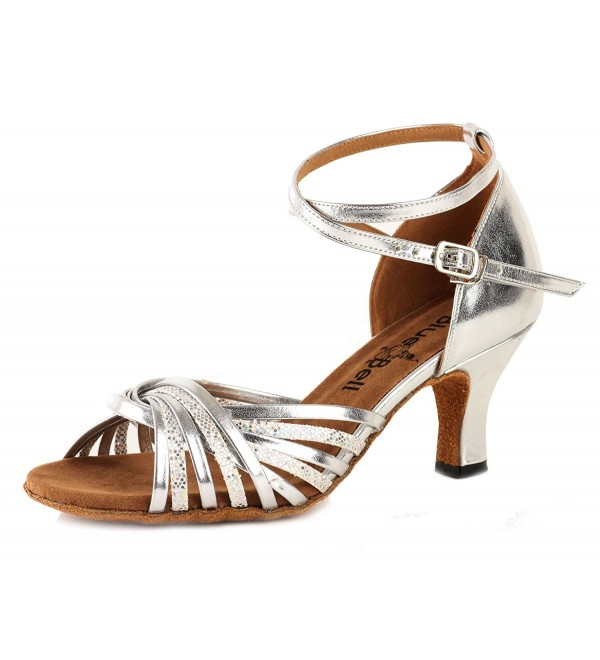 BlueBell Handmade Competition Shoes Valerie 2 5 Heel Silver