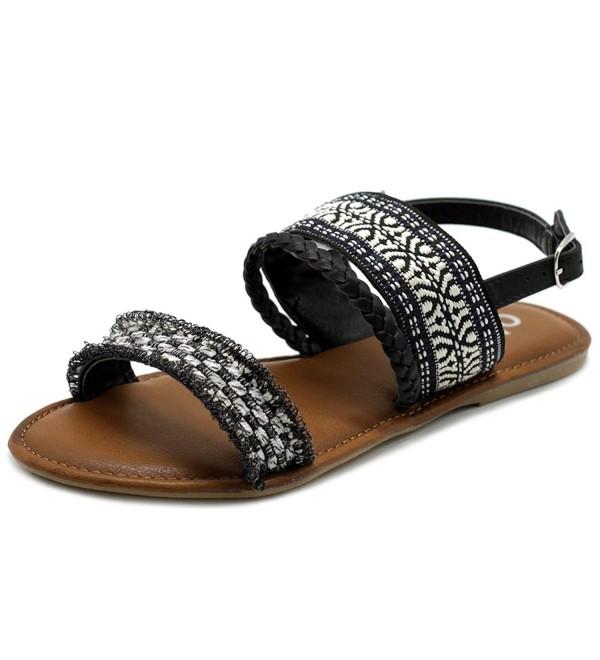 Ollio Womens Ethnic Braided Sandal