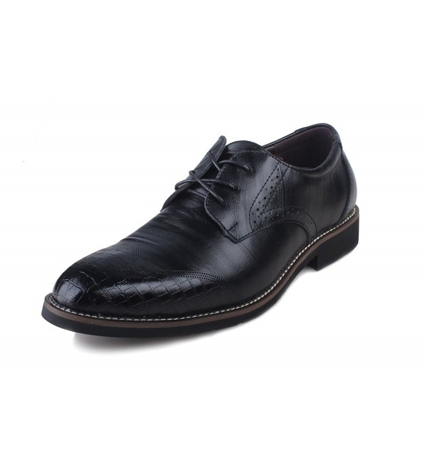 Kunsto Leather Oxfords Brogue Shoes