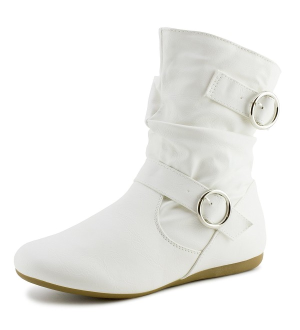 Link Zipper Leather Booties Rachel