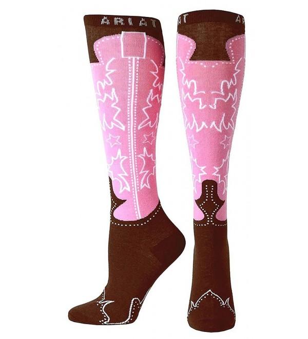 Ariat Western Brown Womens Socks