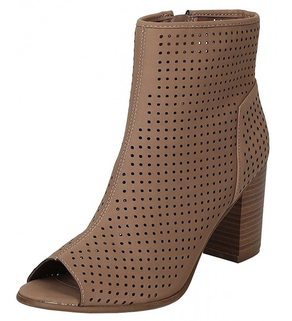 Breckelles Womens Perforated Stacked Chunky
