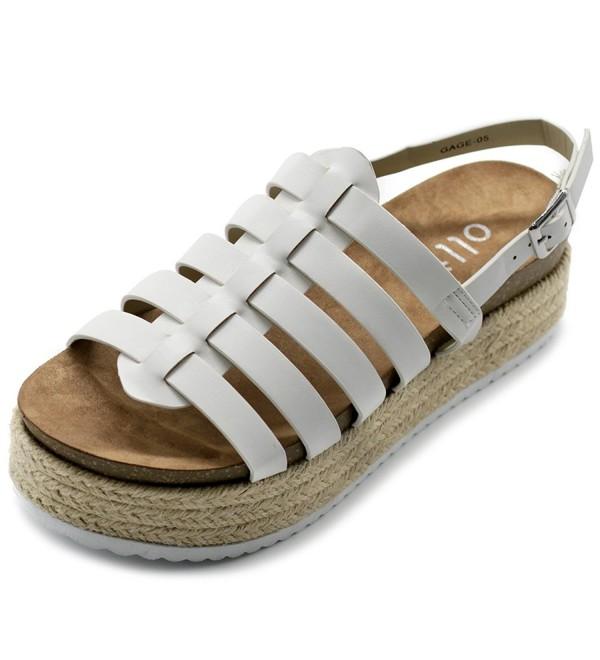 Ollio Gradiator Espadrilles Platform Sandals
