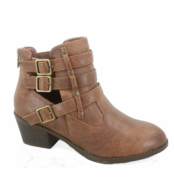 Forever Link Fashion Buckles Booties