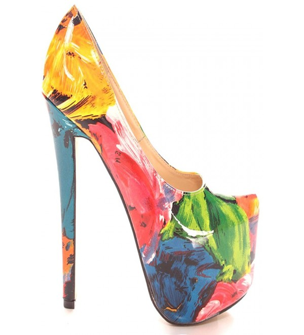 Lolli Couture Printed Pointed Platform