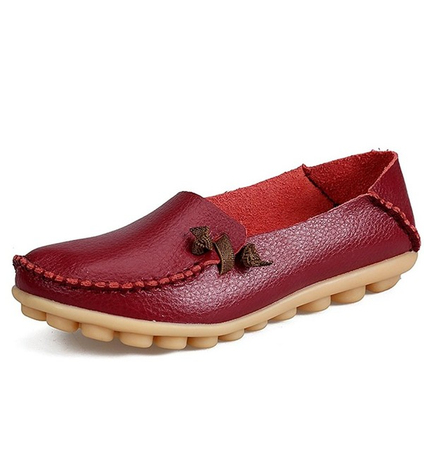 Alicegana Leather Loafers Driving Moccasins