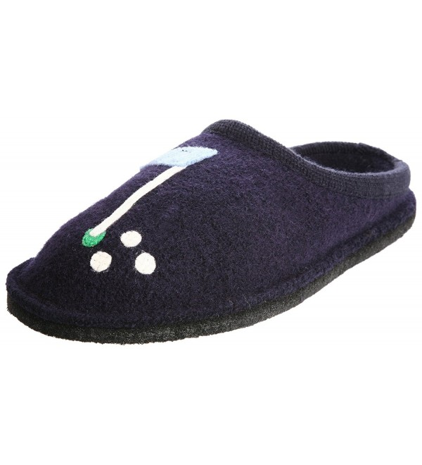 Haflinger Golf Slipper Navy Womens