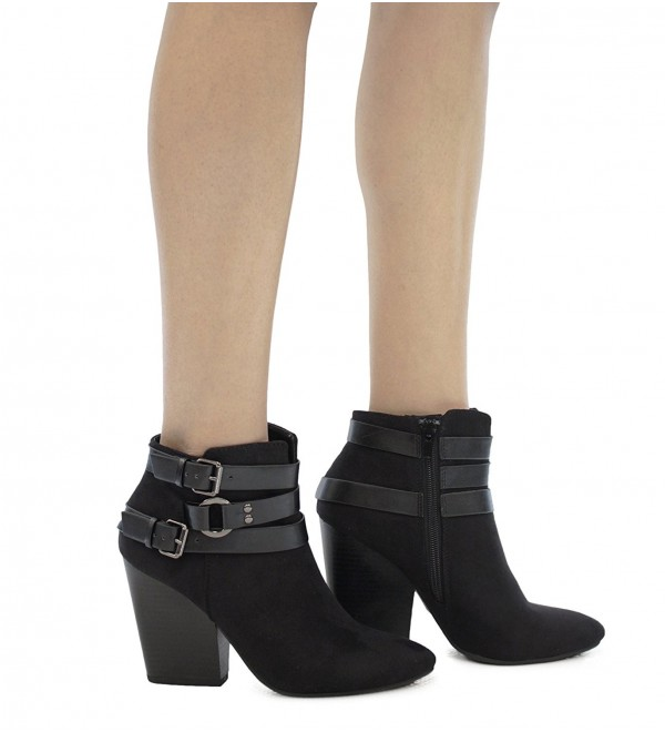 MVE Shoes Crisscross Stacked Booties