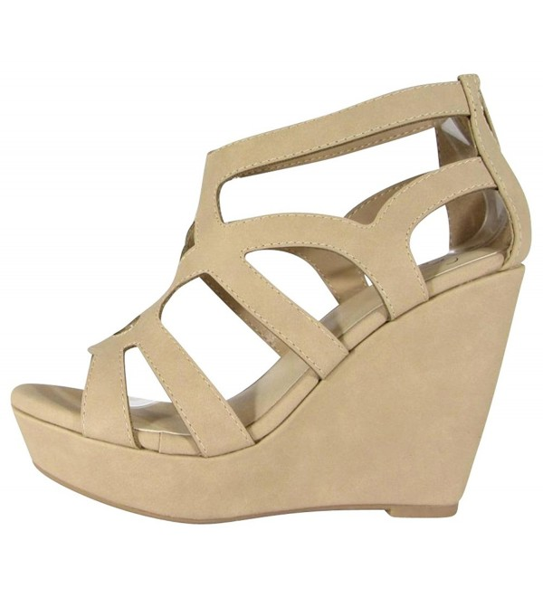 Delicious Womens Cutout Platform Natural