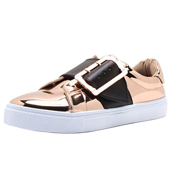 Qupid Womens Buckle Fashion Sneaker