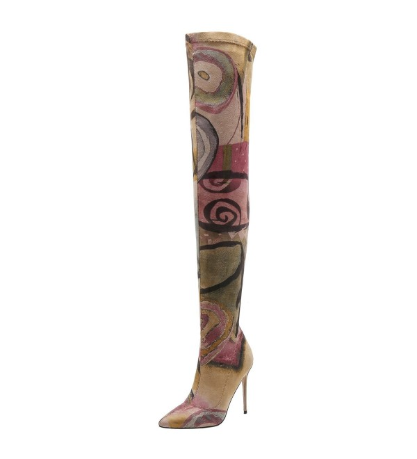 Women Suede Flora Tight Boots