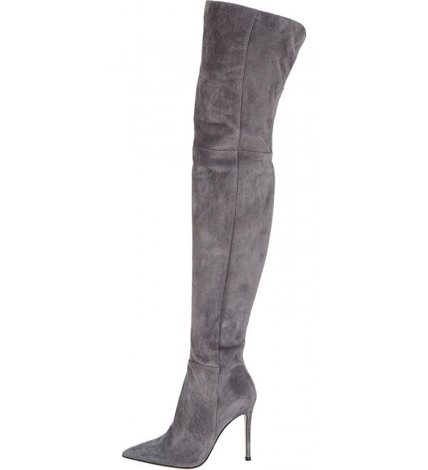 Kmeioo Womens Pointed Stretch Stilettos