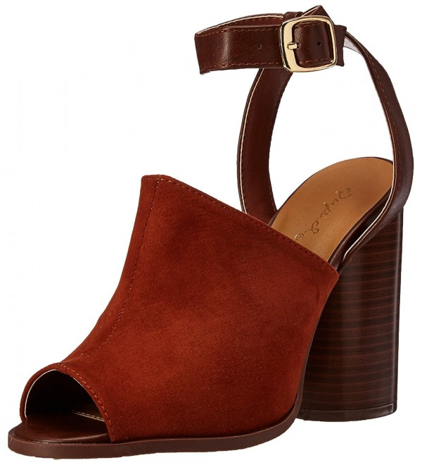 Qupid Womens Bondi 02 Heeled Whiskey