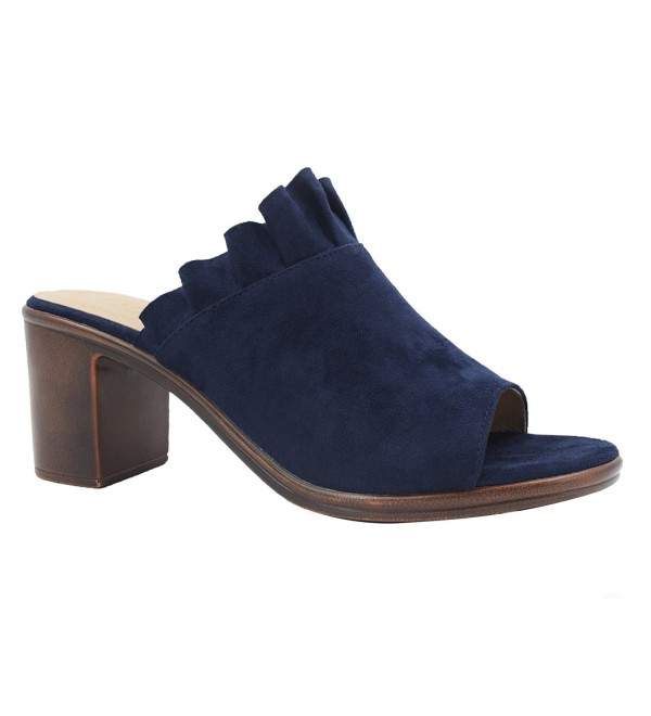 ed2cb1ff47f9 ... Women Shoes Faux Suede Clogs Open Toe Sandals Mid Block Heel Mules -  Blue Suede - CG17Z64GCS9. On sale! New. MaxMuxun Heels Mules Sliders Sandal