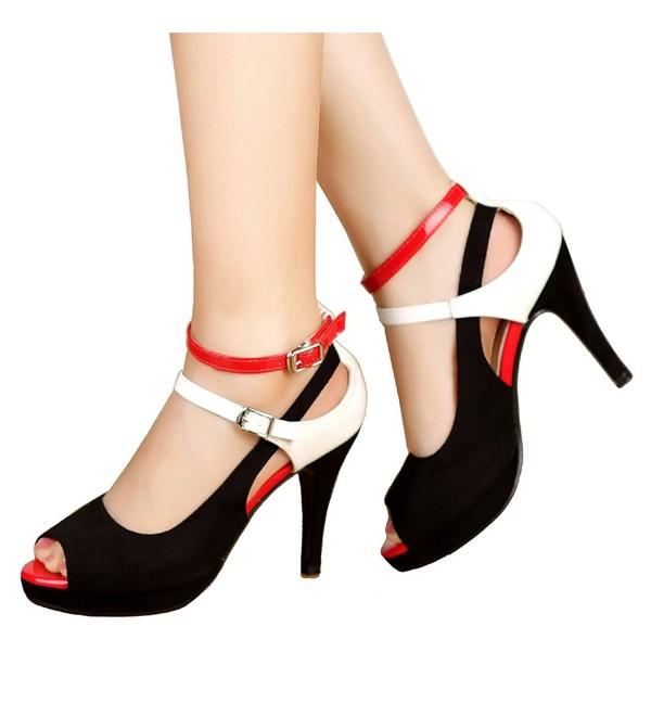 getmorebeauty Womens Stripe Straps Sandals