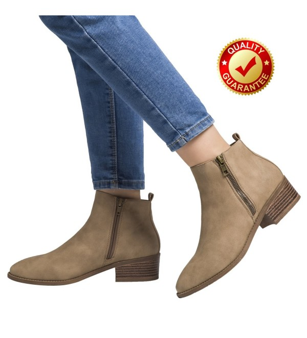 Luoika Leather Chunky Stacked Ladies