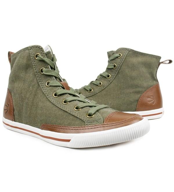 Burnetie Womens Olive Vintage sneaker