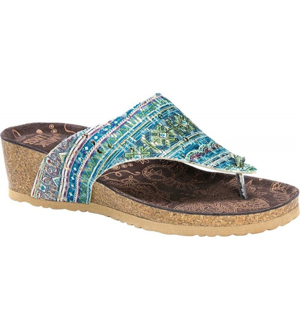 MUK LUKS Womens Sandal Polyester