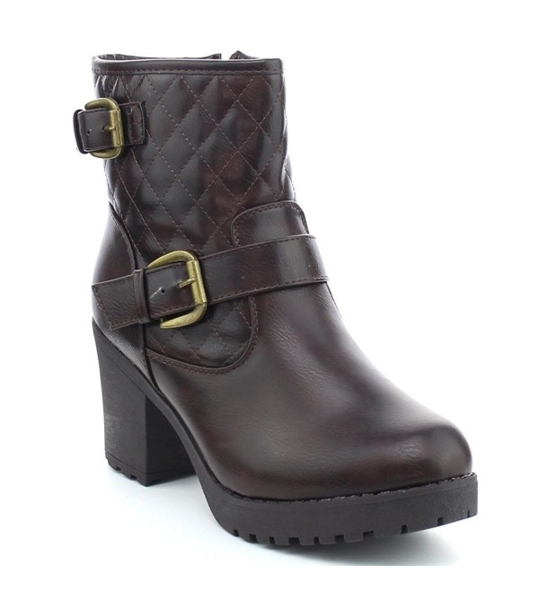 WestCoast Club 03 Quilted Platform Booties