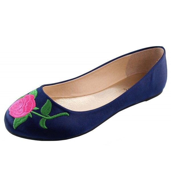 Elegant Footwear Womens Embroidered Floral