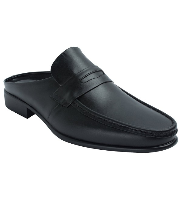 AGOS Penny Loafer Leather Slippers