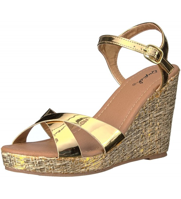 Qupid Womens Lidi 01x Wedge Sandal