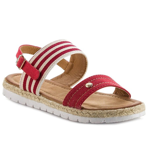 Womens Contrast Slingback Espadrille Sandals