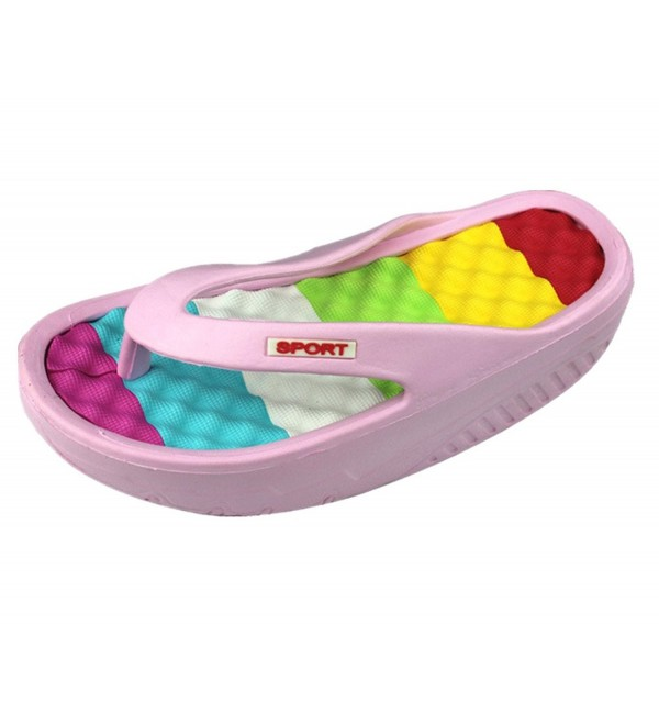 ANBOVER Platform Massage Slippers Sandals