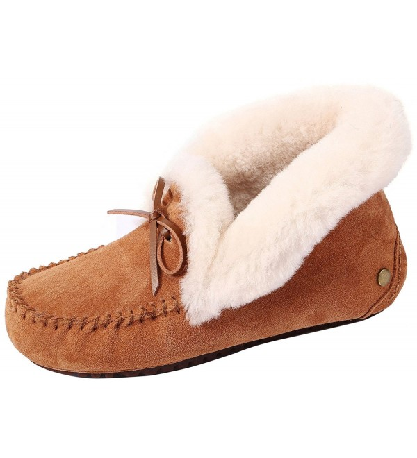 U lite Womens Slipper Slouch Chestnut7