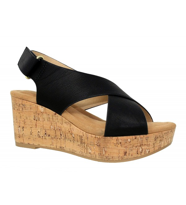 MVE Shoes Womens Velcro Platforms Sandals