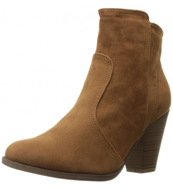 Breckelles Womens HEATHER 34 Chunky Booties