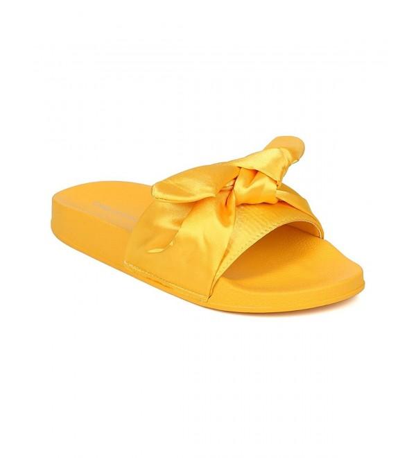 Indulge Women Satin Footbed Slide