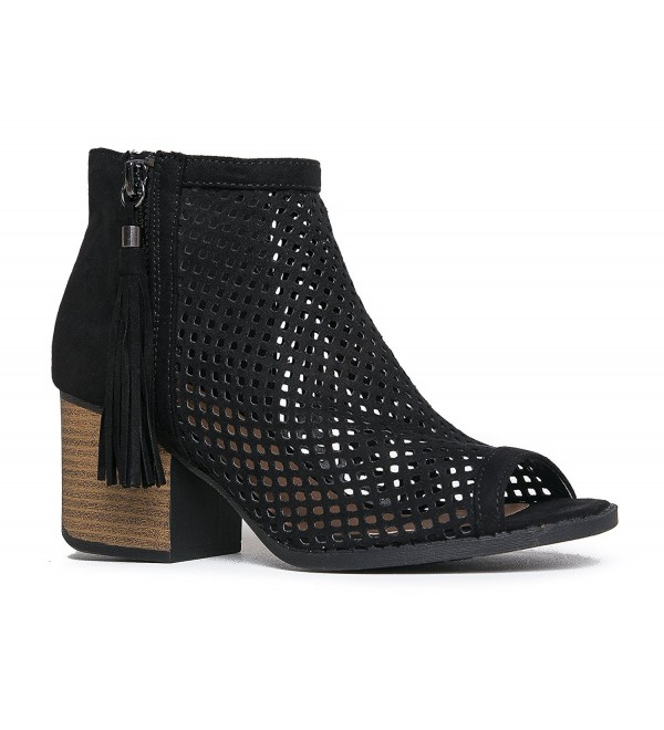 J Adams Perforated Ankle Bootie