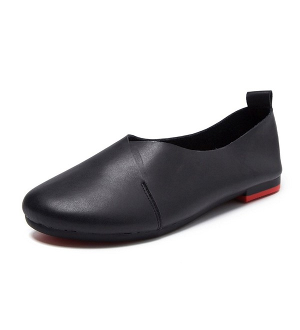 Womens Genuine Leather Comfort Ballet