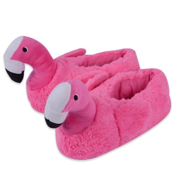 KushyShoo Flamingo Slippers Animal Memory