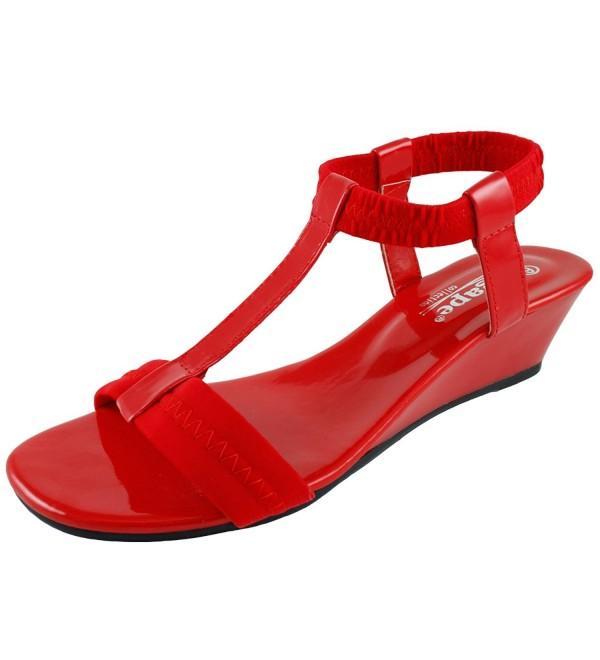 Agape Image 69 T Strap Wedge Sandal