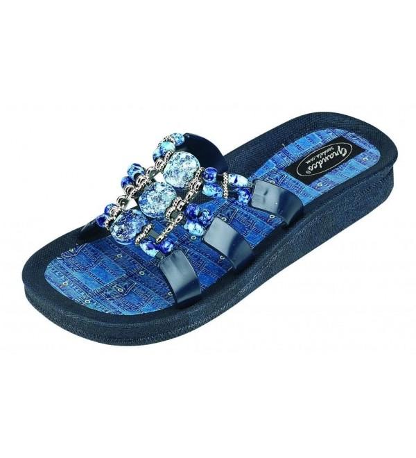 Grandco 25550D Denim Slide Sandal