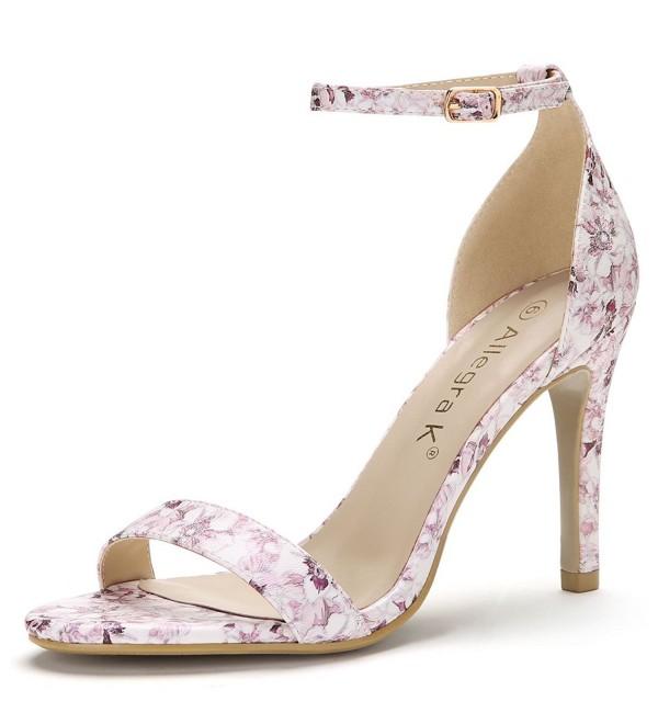 Allegra Womens Floral Stiletto Sandals