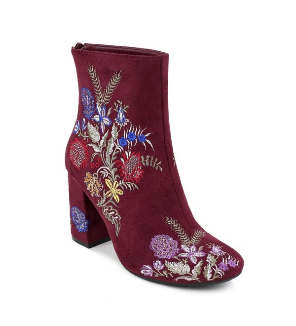 Olivia Miller Springfield Embroidered Burgundy