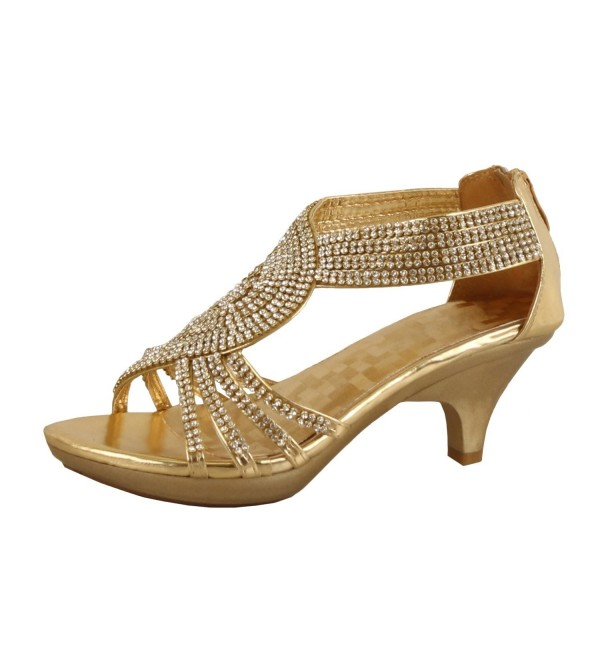 99a9f03c321e79 ... Womens Strappy Rhinestone Dress Sandal Low Heel Shoes - gold -  CG11KB6LMOD. On sale! New. Delicacy Angel 37 Rhinestone Gold 10