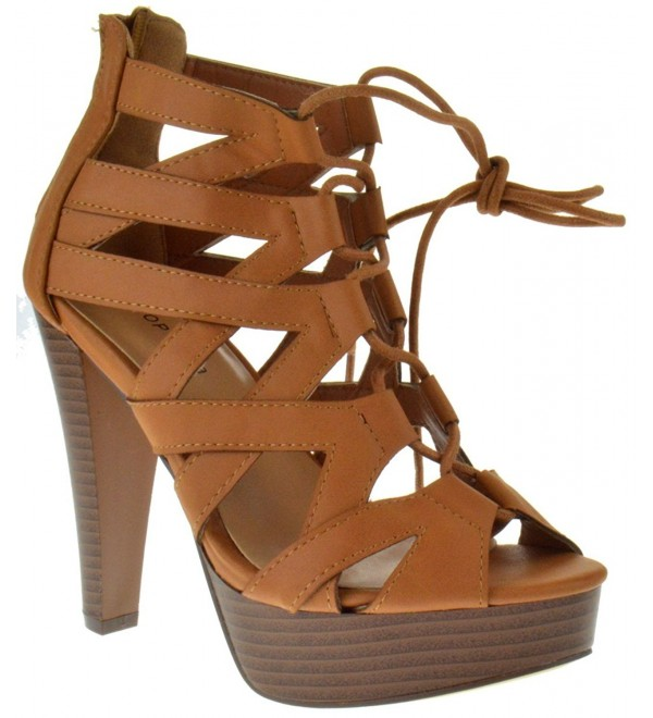 Table Peep High Strappy Pumps