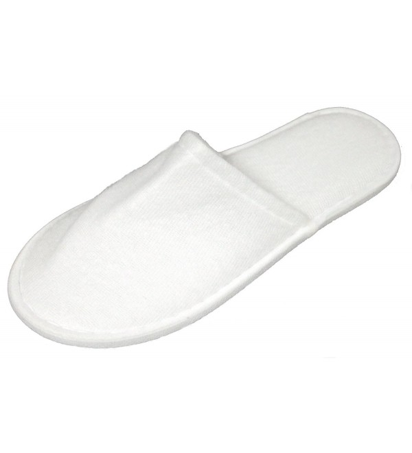 Luxehome White Fleece Close Slippers