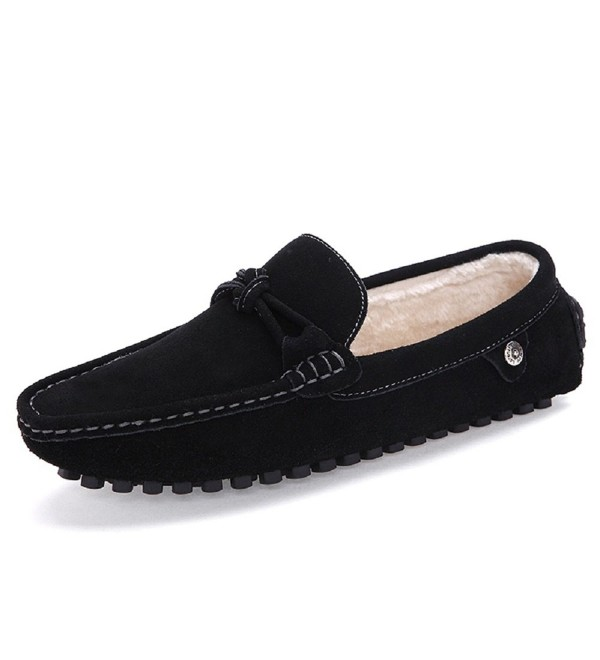 Meeshine Suede Slippers Moccasins Loafers