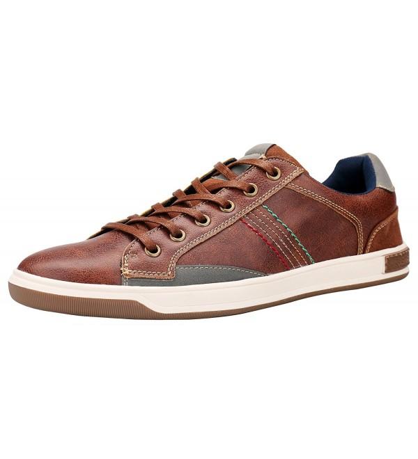 SHENBO Brown Spectator Fashion Sneakers