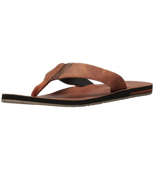 Volcom Fader Leather Sandal Cognac