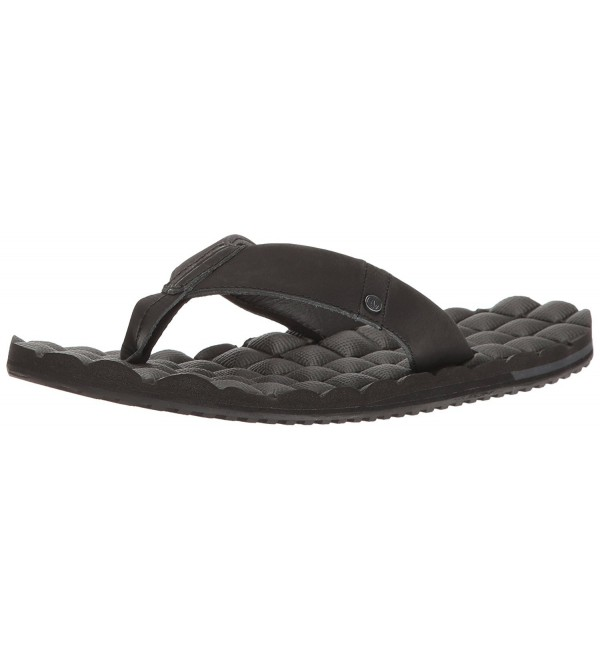 Volcom Recliner Leather Sandal Black
