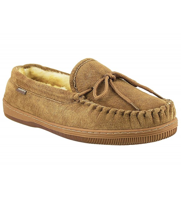 Suede Classic Moccasin Slippers CHESTNUT