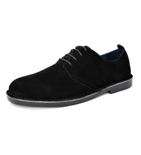 Bruno Francisco Low Black Leather Oxfords