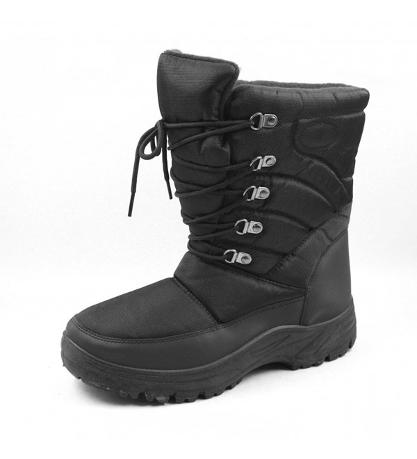 7702 Black Mens Snow Boots