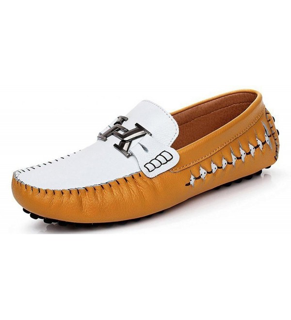 ylw3631jinhuang43 SUNROLAN Special Leather Moccasins